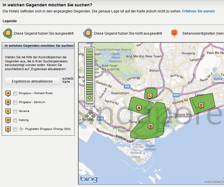 Hotwire-Singapur-Karte