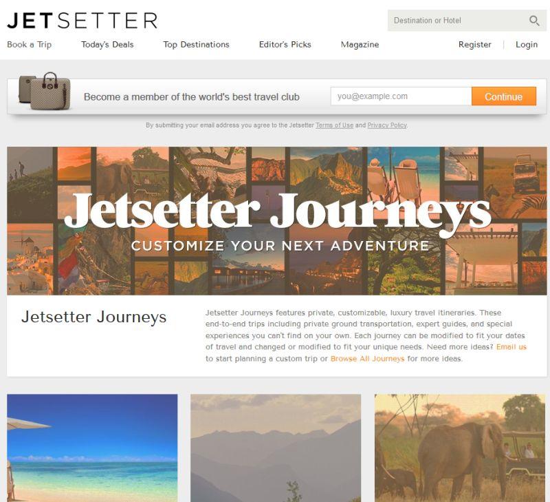 Jetsetter Reise-Shoppingclub