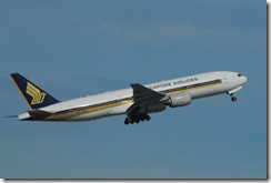 Flugzeug der Singapur Airlines