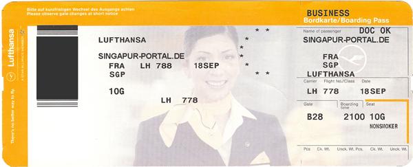 Lufthansa Flugticket